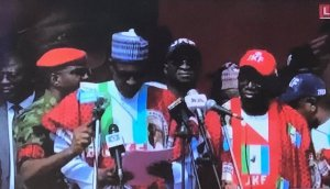 Don't waste your vote on PDP, Buhari as Ngige gaffe video goes viral