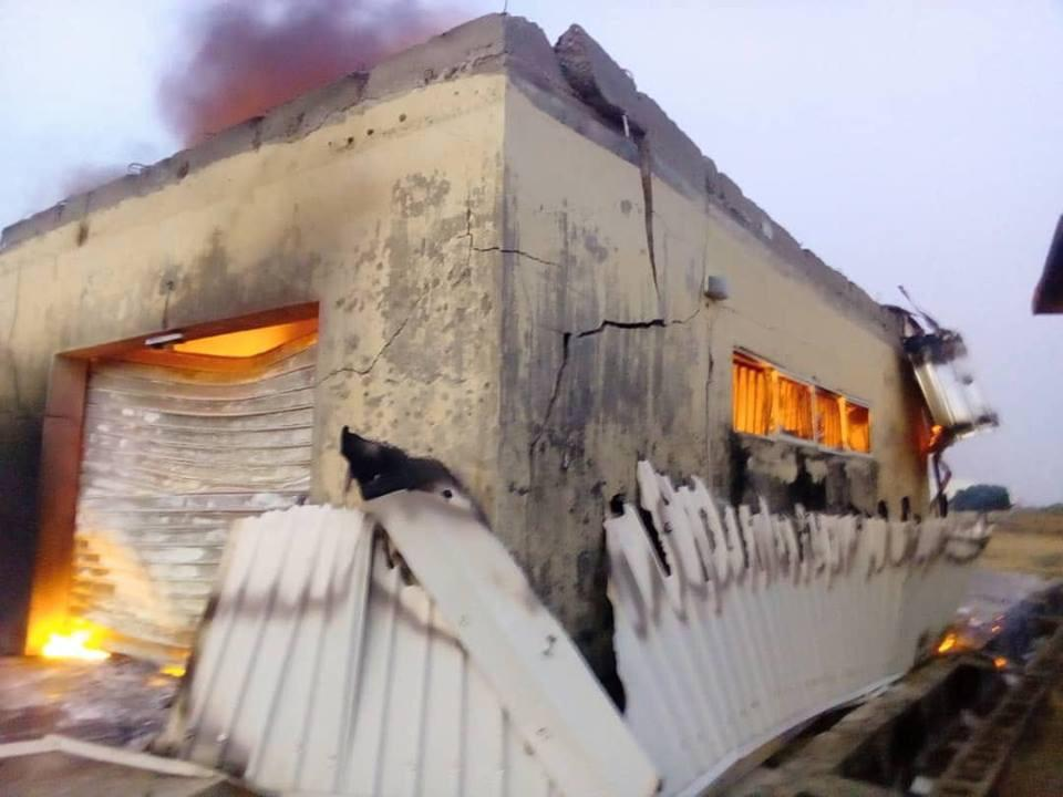 Plateau INEC office burnt down