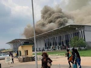 Video: Fire guts part of Owerri Airport as State's only fire truck comes to the rescue