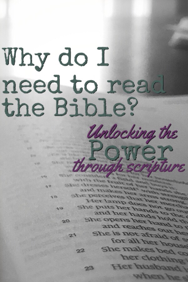 Why do I need to read the Bible?
