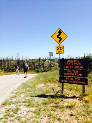 Hiking from Buescher to Bastrop State Park