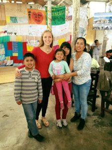 Sophia and her host family in Ecuador