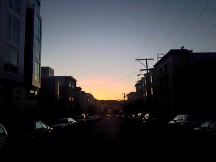 urban sunset on foot...