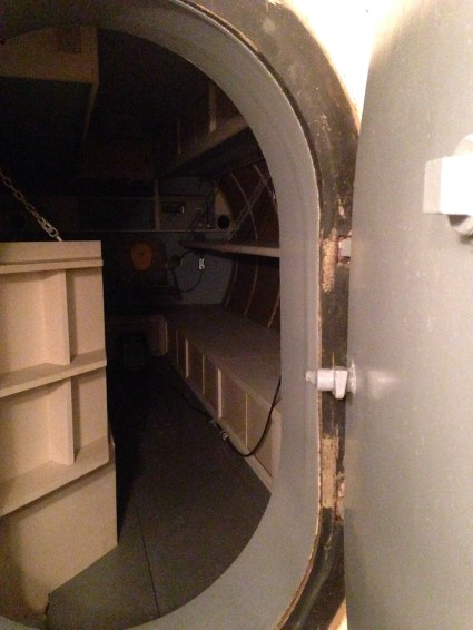 a tank of bunks in the fallout shelter