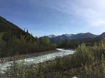 glacially-fed river