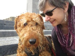 Me and my human mum. Did not want to smile!! ;-)