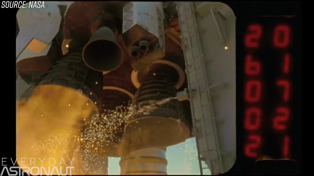 Space Shuttle ignition