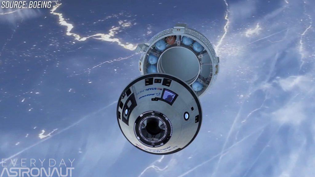 Boeing Starliner ditching abort motor service module