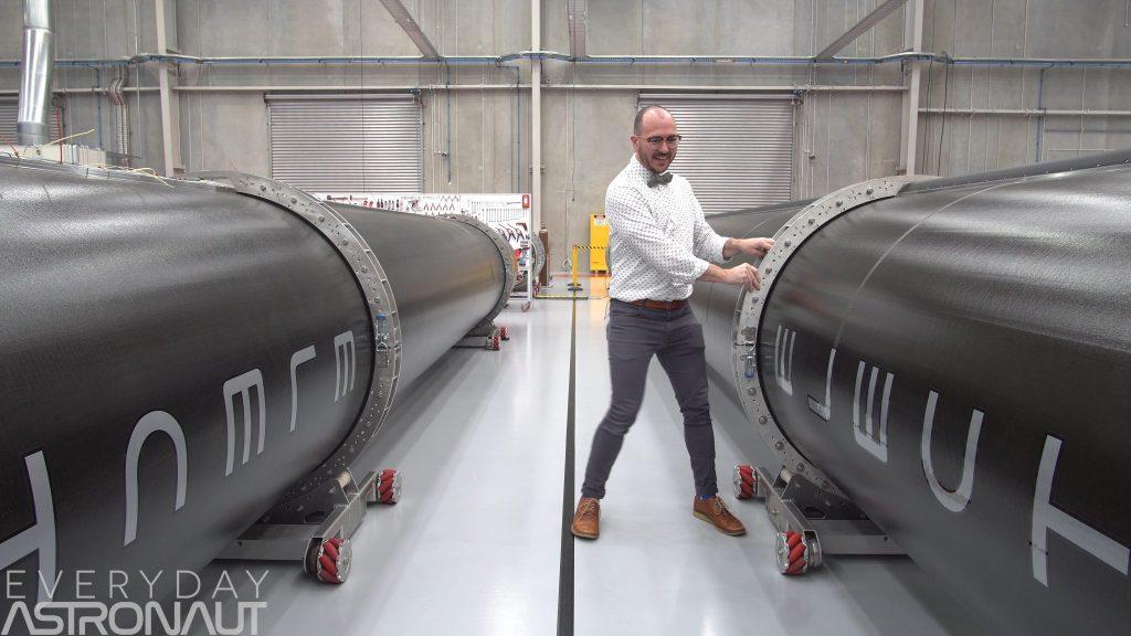 Electron rocket carbon fiber size factory tim dodd