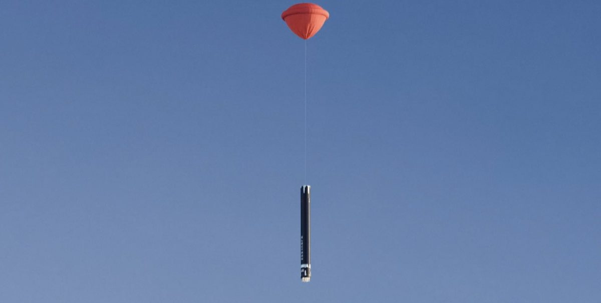 Rocket Lab air recovery helicopter parachute electron ballute