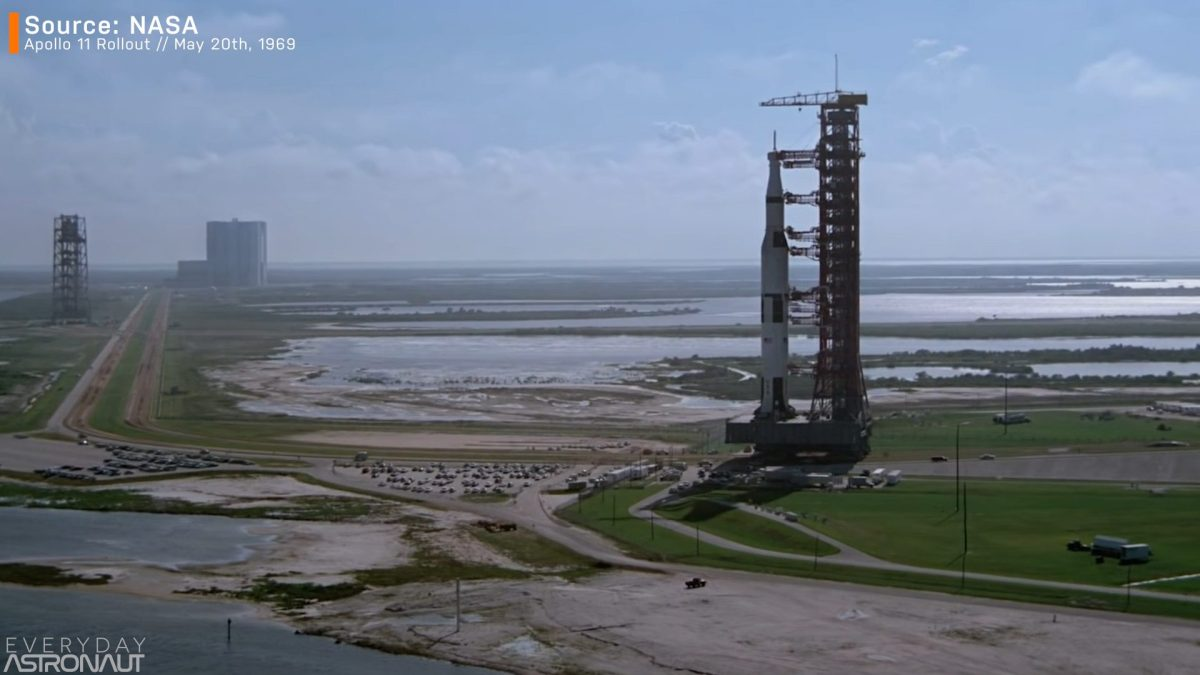 Apollo 11 launch abort system roll out