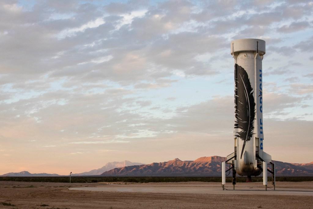 Landed New Shepard NS2, Blue Origin