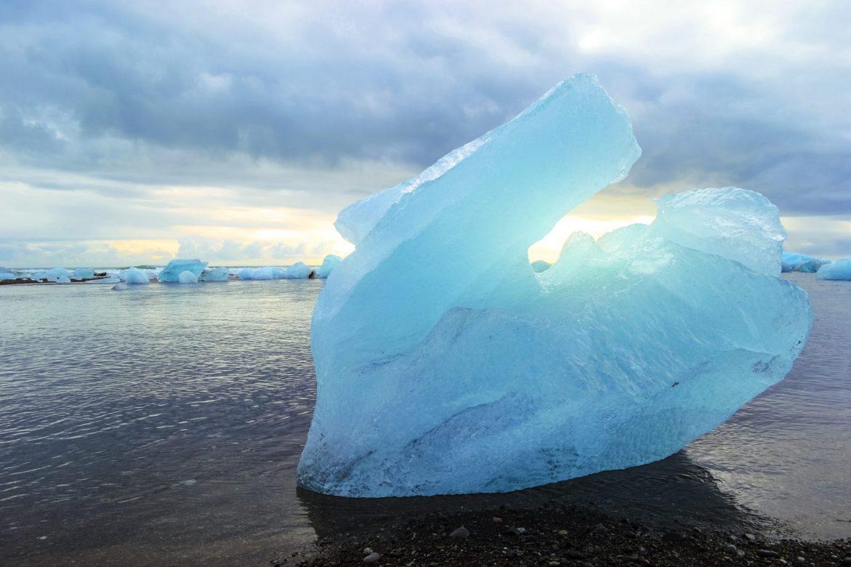 Jokulsarlon glacier lagoon, Iceland. Diamond Beach