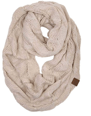 White Infinity Scarf