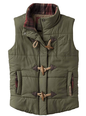Army Green Puff Vest
