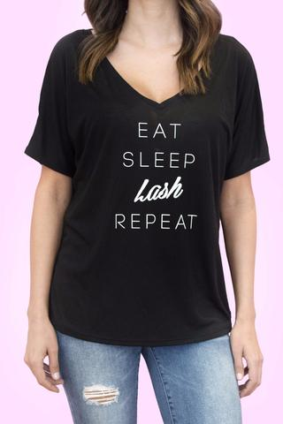 For all you lash artists and girly girls ! No explanation needed. Dropped sleeves, a low v-neck and the softest fabric make this the most amazing, chic tee. Uniforms are out, cute lash tees are in. Throw on a blazer and get to lashing! $27