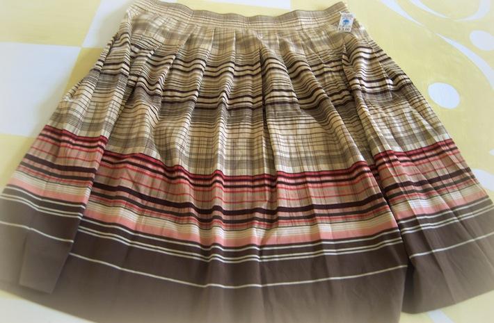Meisha's skirt, silk, gathered, Thrifted!