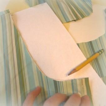 making collar pattern: back