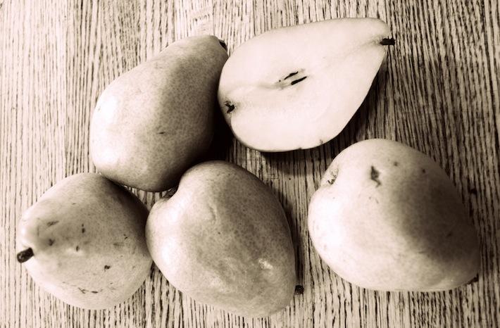 five anjou pears