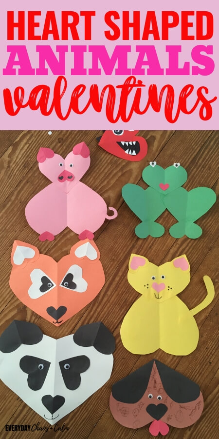 Heart Shaped Crafts : heart, shaped, crafts, Adorable, Heart-Shaped, Animal, Crafts, Valentine's