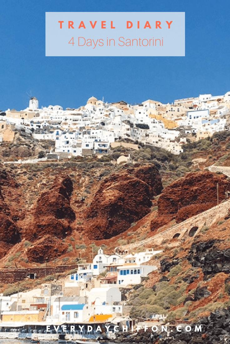 4 Days in Santorini | Travel Diary Santorini | What to Do in Santorini | Travel Photos of Santorini Greece