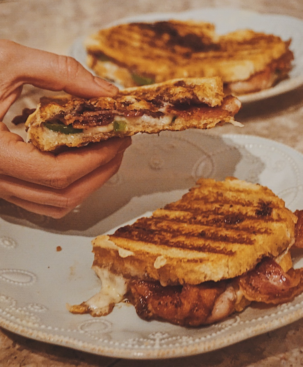 Blackberry Bacon Grilled Cheese Sandwich