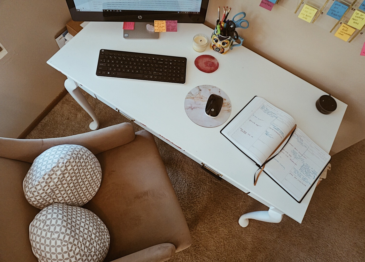 Tips for Working From Home + A Mini Office Reveal | Full Time Blogger