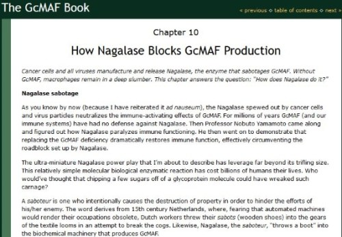 Nagalase and cancer