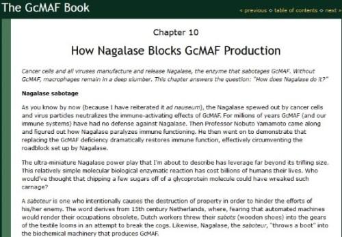 Nagalase and cancer