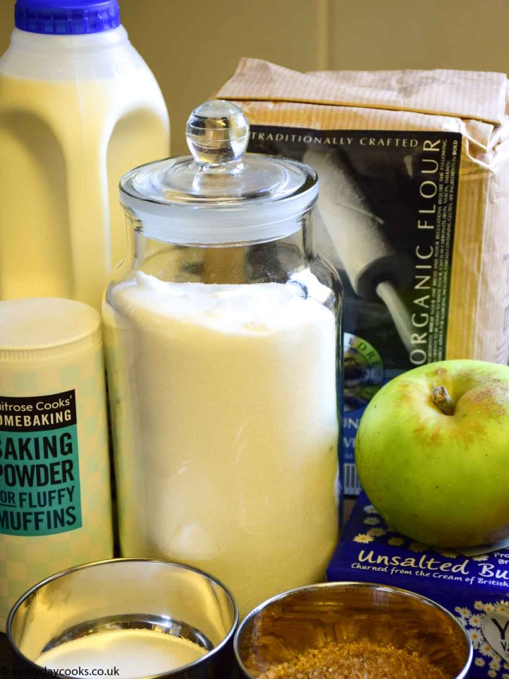 Ingredients for Apple Scone