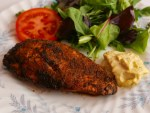 Gyros chicken breast with salad. A spicy rub for grilled chicken.