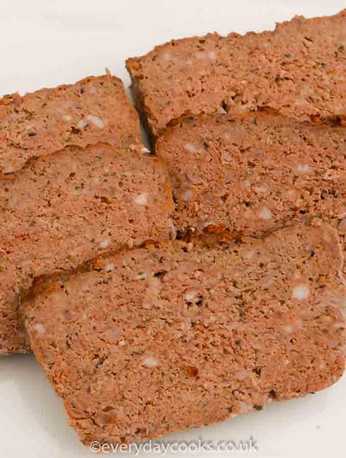 Slices of meatloaf