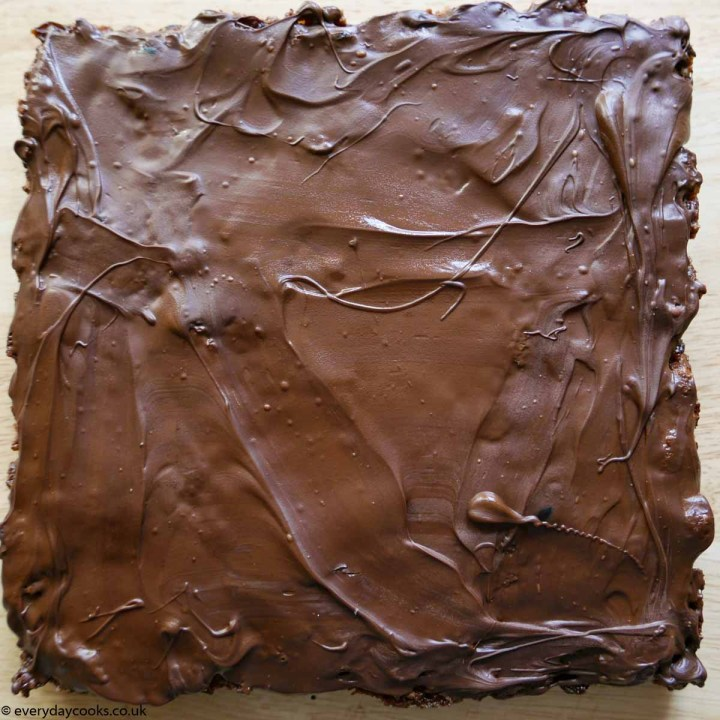 Chocolate Tiffin before cutting