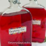 Two bottles of Raspberry Gin