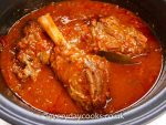Lamb Shanks in Red Wine in the Slow Cooker