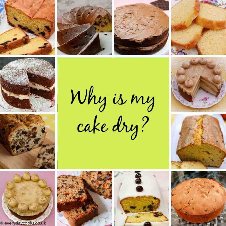 Why is my cake dry? 5 reasons why and what you can do about it. Plus pictures of cakes