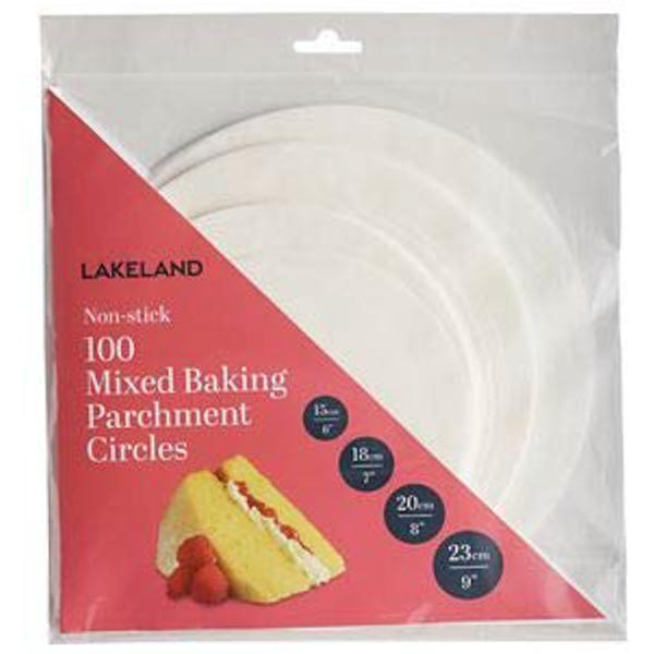 Bag of assorted baking parchment circles