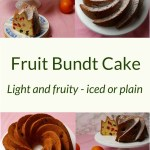 4 pictures of Fruit Bundt Cake