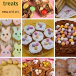 Selection of cakes and cookies for Easter.