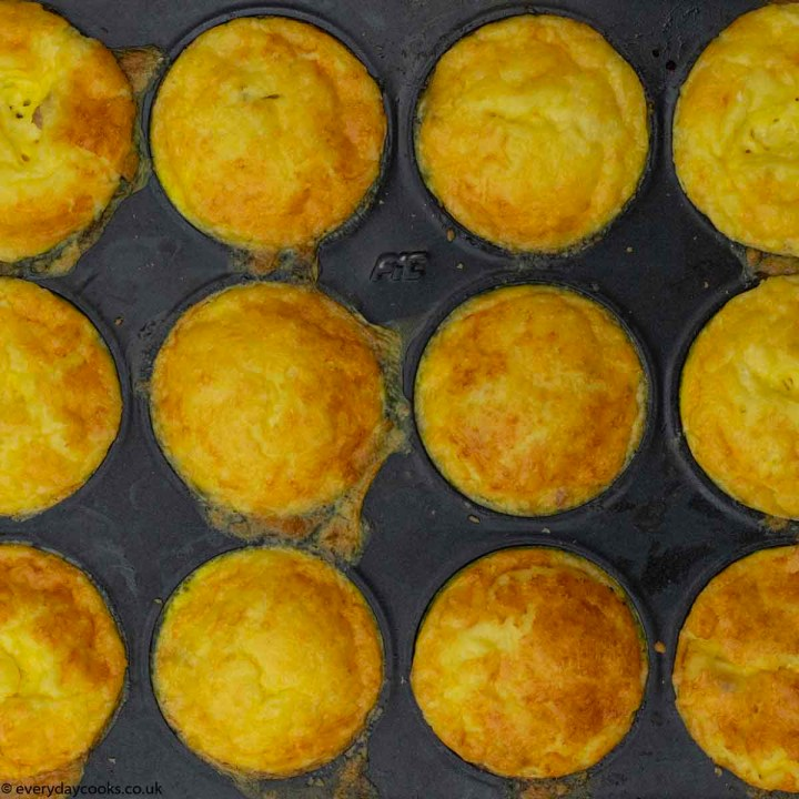 12 Breakfast Savoury Muffins in the tin