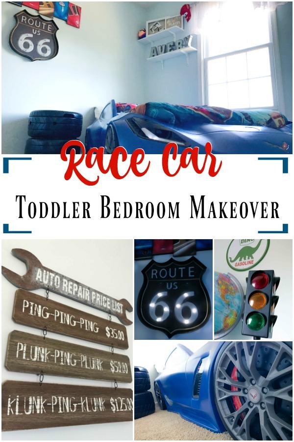 Race Car Toddler Bedroom Makeover