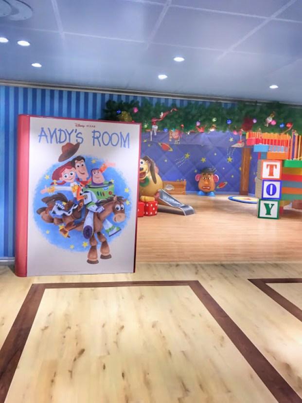 Disney Cruise Kid's Club Andy's Room
