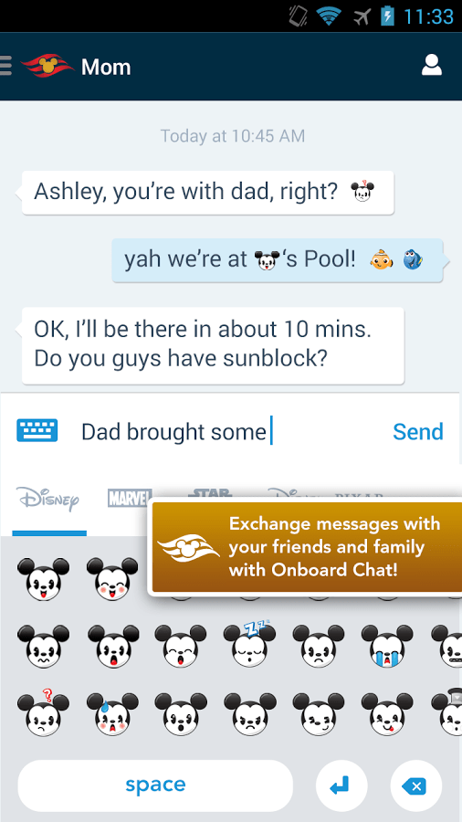 Disney Cruise Navigator App With Mom