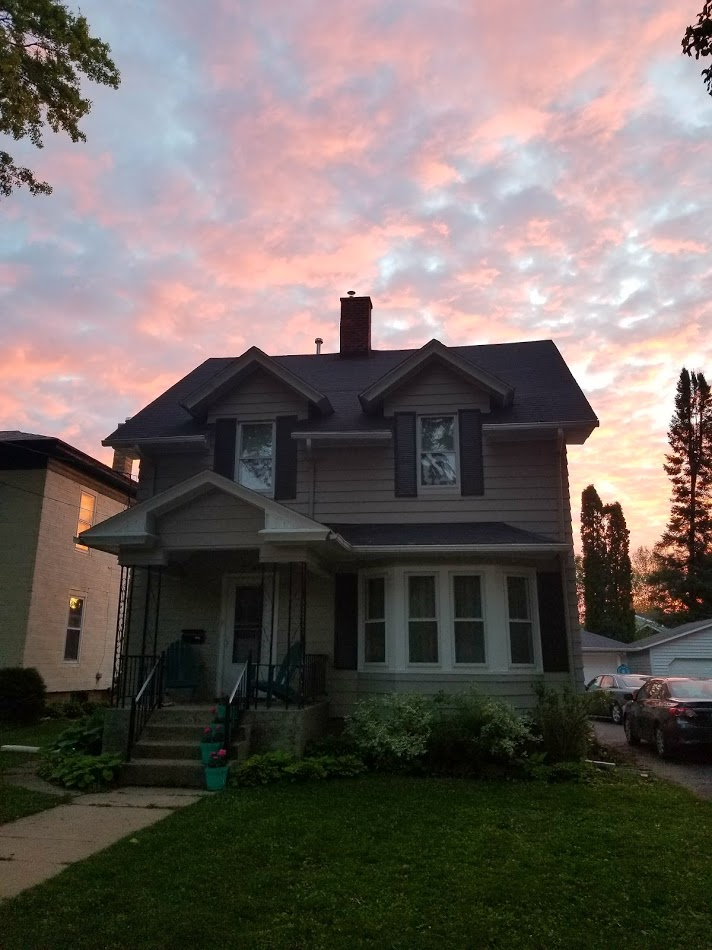 house at sunrise