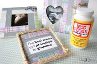 DIY baby shower gift for grandma