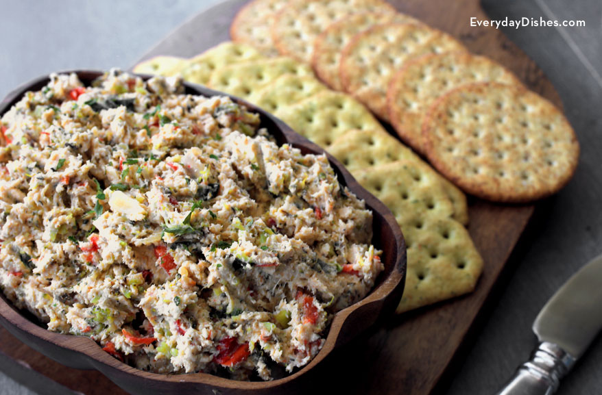 Chicken Spread with Roasted Veggies Recipe