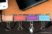How to make a cord organizer - Everyday Dishes & DIY