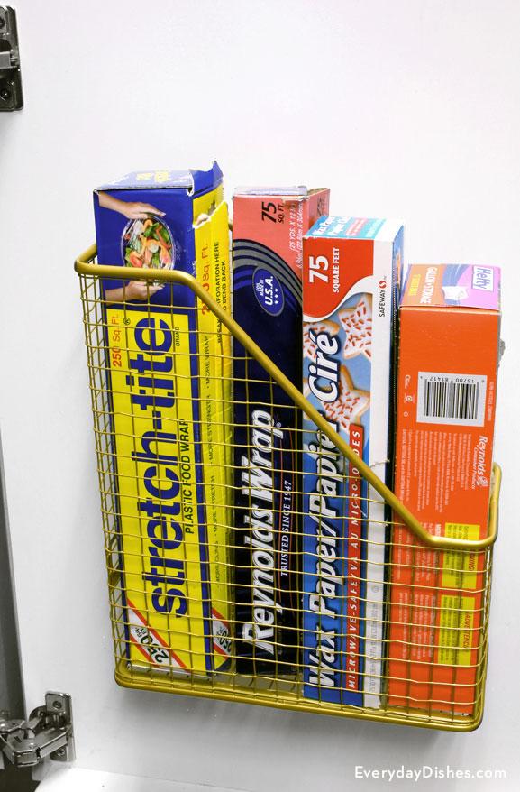 kitchen organizer backsplash magazine rack