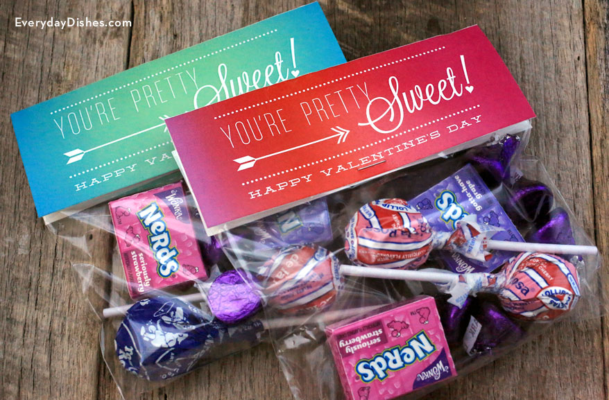 Printable Valentine treat bags  Everyday Dishes  DIY