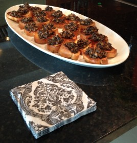 ...or another standby, sherried mushroom toasts...